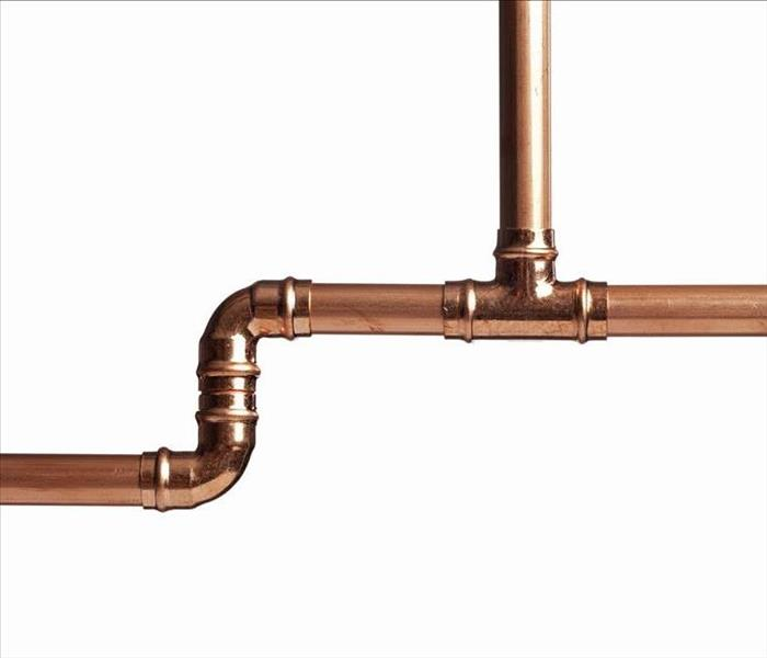"1/2"" copper pipes and couplings--plumbing"